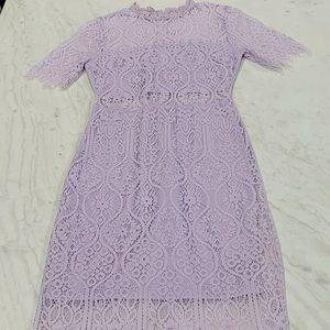 Lulu's Remarkable Lavender Lace Dress